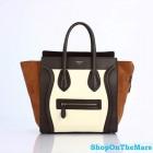 Celine Mini Luggage Calf Leather Coffee Bag Rare