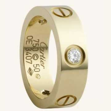 Cartier Love Ring yellow gold with diamonds