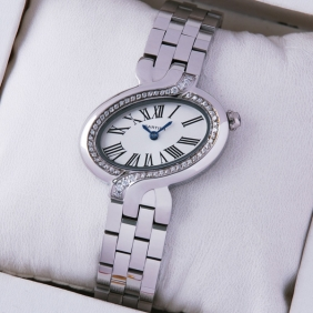 Delices De Cartier Replica Diamonds Stainless Steel Ladies watches WG800004