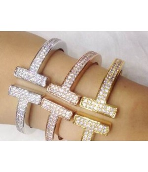 Tffany T bracelet with diamond