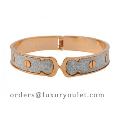 Cartier LOVE Bangle Bracelet in 18kt Pink Gold with silicon carb crystals