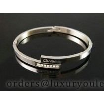 Cartier White Gold LOVE Bracelet with Diamonds