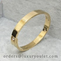Cartier LOVE Bracelet in 18k Yellow Gold with a Diamond