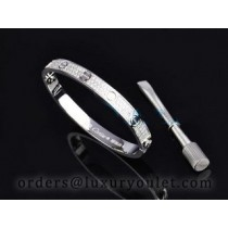 Cartier White Gold LOVE Bracelet With Paved Diamonds+Free Screwdriver