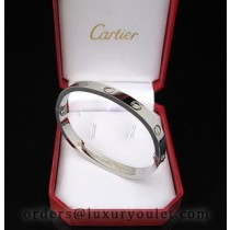Cartier Oval Love White Gold Bracelet With Diamond,Narrow