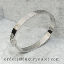 Cartier LOVE Bracelet in Platinum with a Diamond