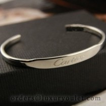 Cartier White Gold LOVE Cuff Bracelet