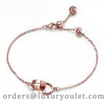 Cartier Double Ring Love Bracelet in 18kt Pink Gold