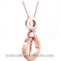 Cartier Screwdriver LOVE Necklace in 18k Pink Gold With Diamond