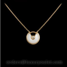 Amulette De Cartier Necklace in Yellow Gold with Mother-of-pearl&Diamond