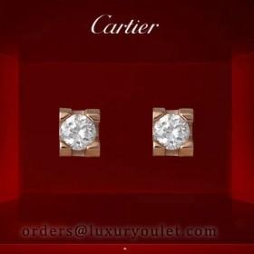 C DE Cartier Earrings in Pink Gold with Diamond