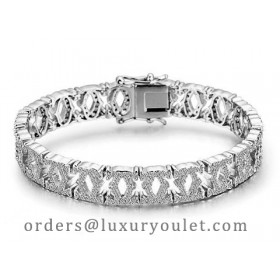 C De Cartier Bracelet in 18kt White Gold with Full Paved Diamonds