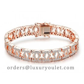 C De Cartier Bracelet in 18kt Rose Gold with Full Paved Diamonds