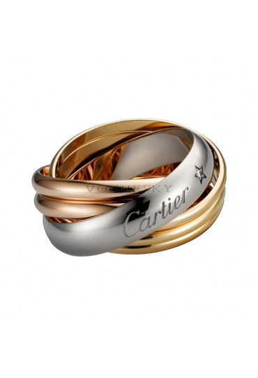 trinity de Cartier 3-gold ring mosaic 1 diamond B4088300 replica