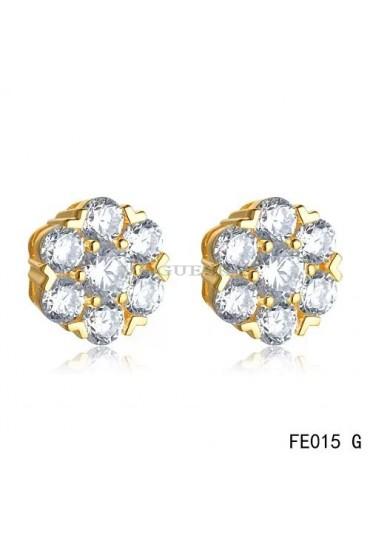 Van Cleef & Arpels Yellow Gold Fleurette Diamonds Earstuds