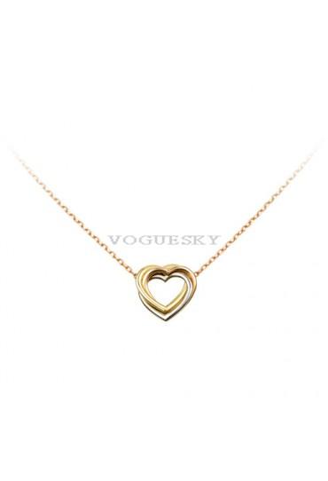 trinity de Cartier yellow gold necklace 3-gold heart pendant replica