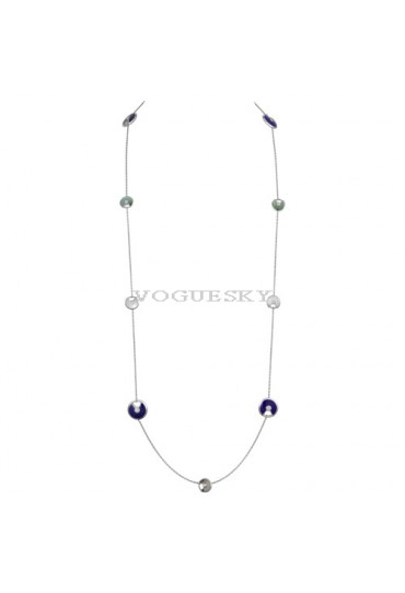 amulette de cartier white gold necklace white and gray mother-of-pearl replica