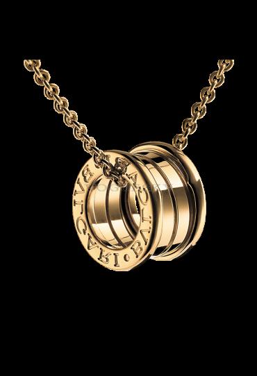 Bvlgari B.ZERO1 necklace yellow gold 4 band pendant CL857831 replica