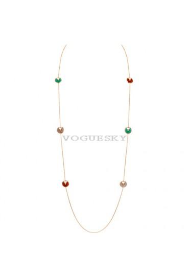 amulette de cartier pink gold necklace chrysoprase carnelian pink opal replica