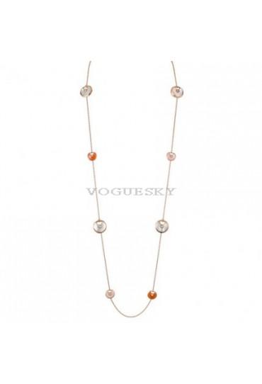 amulette de cartier pink gold necklace mother-of-pearl pink opa carnelian pendant replica
