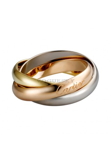 trinity de Cartier 3-gold ring titanium steel medium models B4052700 replica