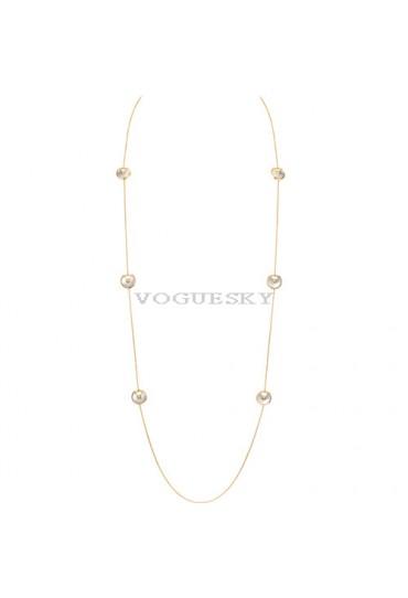 amulette de cartier yellow gold necklace 6 white mother of pearl pendant replica
