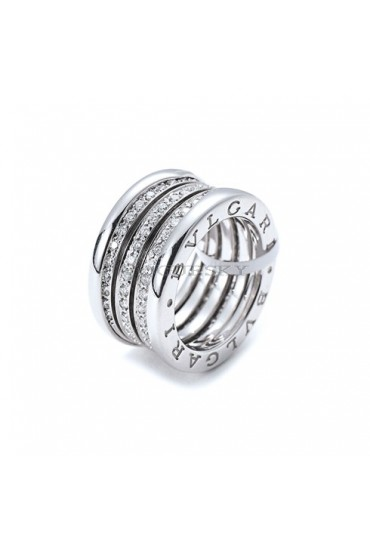 Bvlgari B.ZERO1 ring white gold 4 band Central Covered with diamonds AN850556 replica