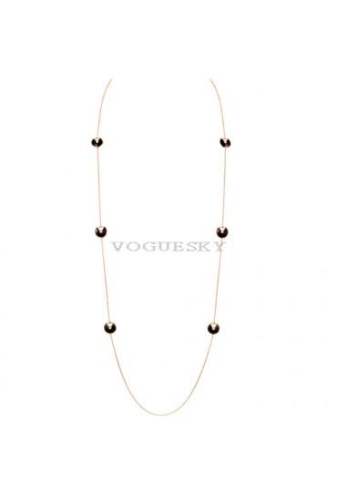 amulette de cartier pink gold necklace 6 onyx 6 diamond pendant replica