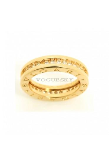 Bvlgari B.ZERO1 ring yellow gold 1 band with diamonds AN850561 replica
