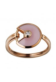 amulette de cartier pink gold ring pink opal diamond B4213400 replica