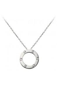 cartier love necklace white gold screw design with pendant replica