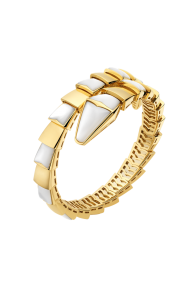 Bvlgari Serpenti Bracelet yellow gold Single helix with mother of pearl BR855763 replica
