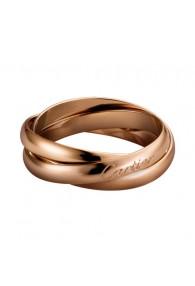 trinity de Cartier pink gold ring titanium steel small models B4218800 replica