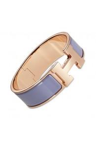 Hermes Clic Clac H bracelet pink gold wide linen enamel replica