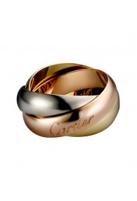 trinity de Cartier 3-gold ring titanium steel large models replica