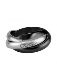 trinity de Cartier white gold ring precision ceramics medium models replica