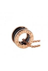 Bvlgari B.ZERO1 necklace pink gold black ceramic pendant CL855762 replica