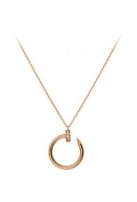 cartier juste un clou necklace 18k pink gold paved with diamonds nail pendant replica
