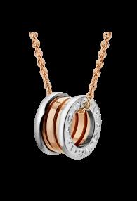Bvlgari B.ZERO1 necklace pink gold white gold pendant CL857655 replica