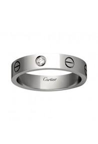 cartier love white gold ring mosaic one diamond narrow version replica