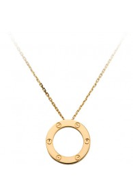 cartier love necklace yellow gold screw design with pendant replica