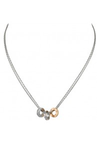 cartier love necklace white gold double stranded tricyclic pendant replica