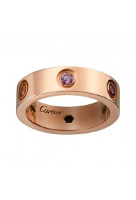 cartier love ring pink Gold sapphires garnets amethyst replica