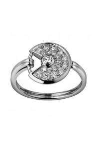 amulette de cartier white gold ring covered diamond B4213550 replica