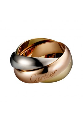 trinity de Cartier 3-gold ring titanium steel large models replica