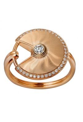 amulette de cartier pink gold ring mosaic diamond B4217200 replica